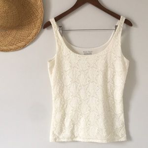 White House Black Market All Over Lace Tank
